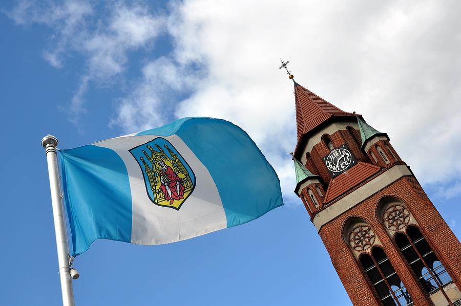 flaga-miasta Grodzisk Wlkp.