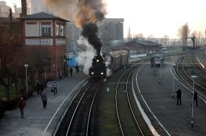 Pociąg Grodzisk Wlkp. kładka nad torami