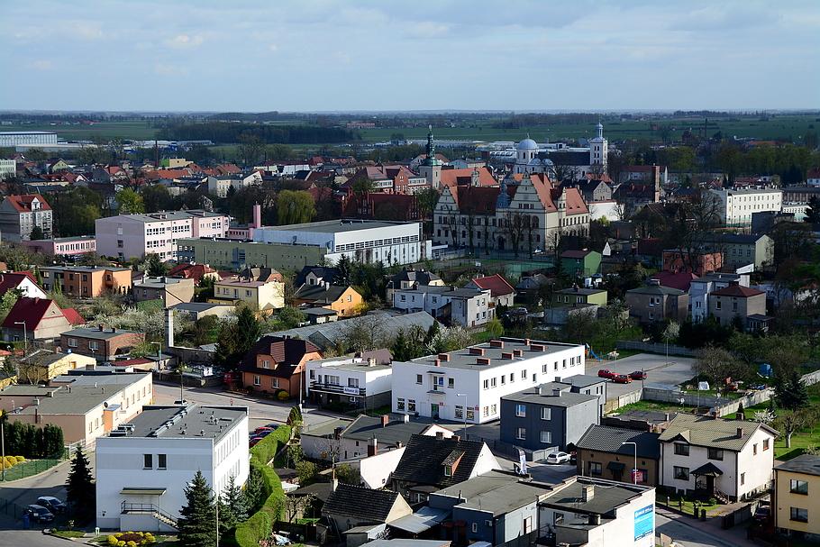 Grodzisk Wielkopolski - miasto z gory